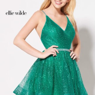 glitter tulle short dress